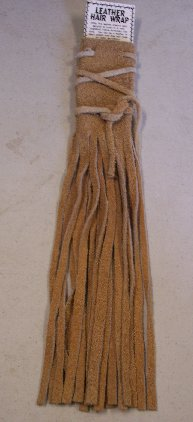 #HJ014B - Buffalo Skin Hair Braid Wrap
