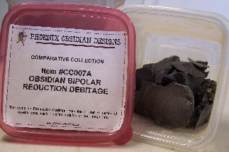 Item #CC007A - Obsidian Bipolar Debitage Collection