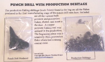 Item #CC012A - Obsidian Drill with Debitage